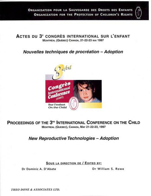 3e Congrès International – Techniques de procréation et Adoption