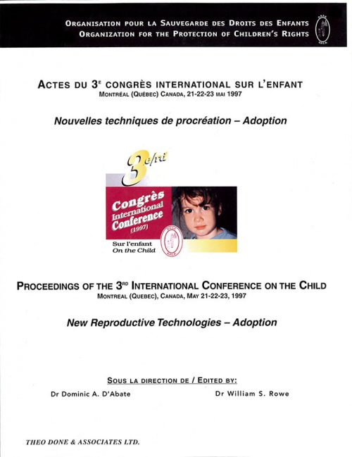 3rd International Conference – Reproductive Technologies and Adoption